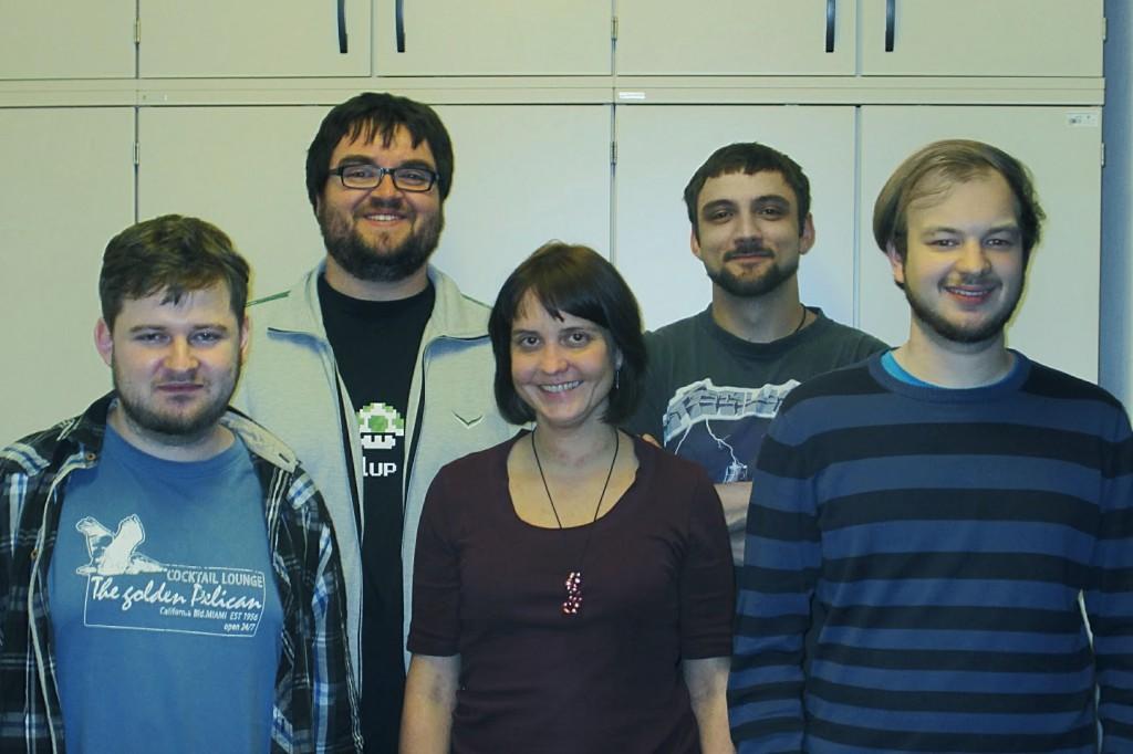 v.l.n.r.: Sebastian Kratz (4), Martin Klöckner (3), Darja Henseler (1), Moritz Rehfeld (2), Christian Voßen (5), Foto CC-BY-SA 3.0 Thomas Heinen