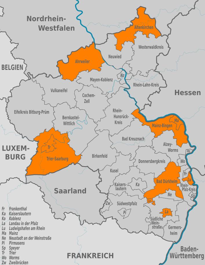 Kommunalwahlen in Rheinland-Pfalz