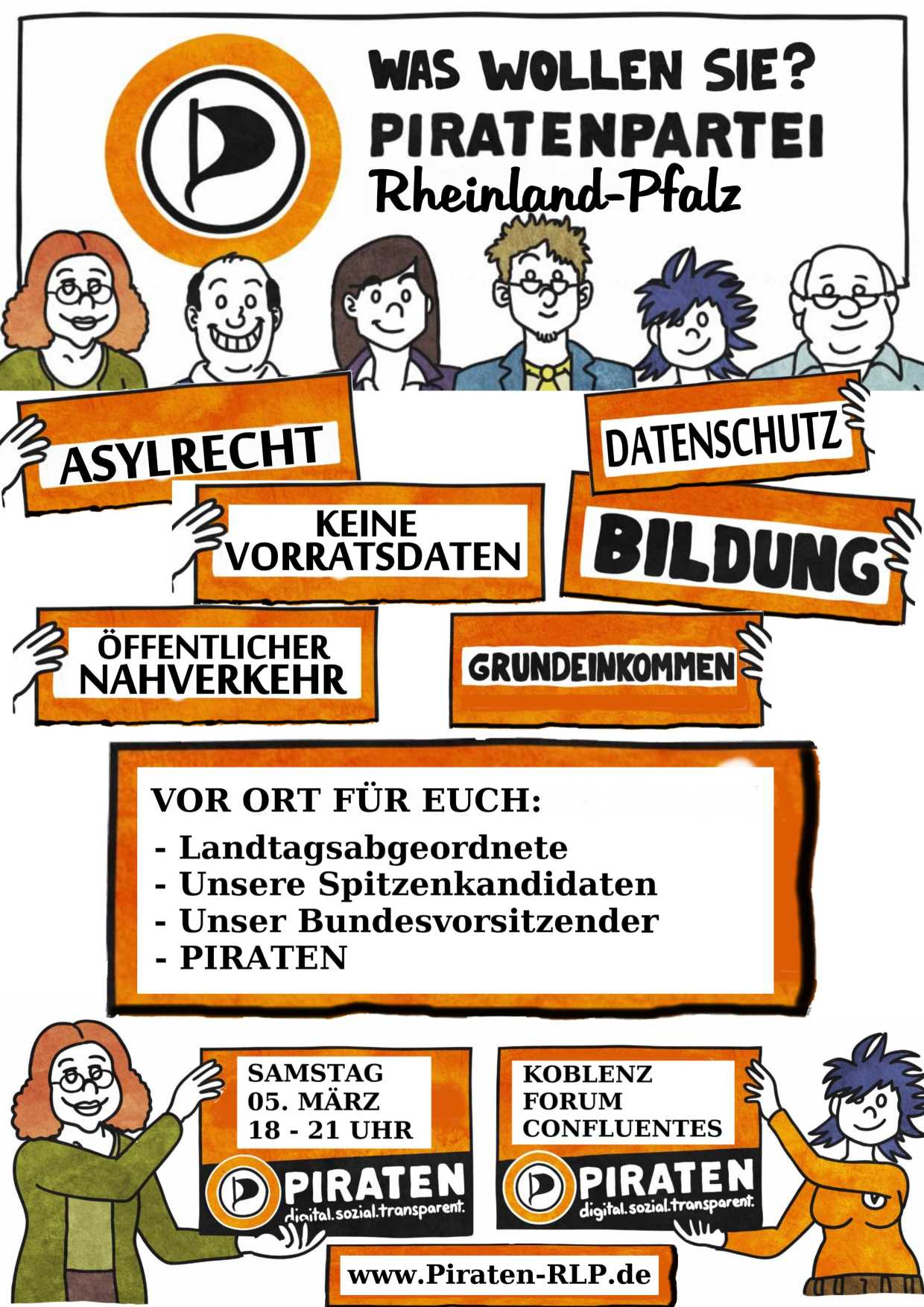 Wahlkampfevent am 5. März