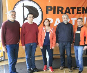 von links nach rechts:Jürgen Grothof, Jan Reininghaus, Marie Salm, Ingo Höft, Klaus Brand. Foto: Thomas Kemblowski